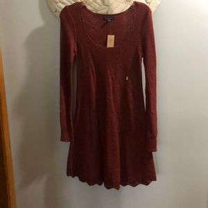 NWT American Eagle Rust Colored Sweater Dress